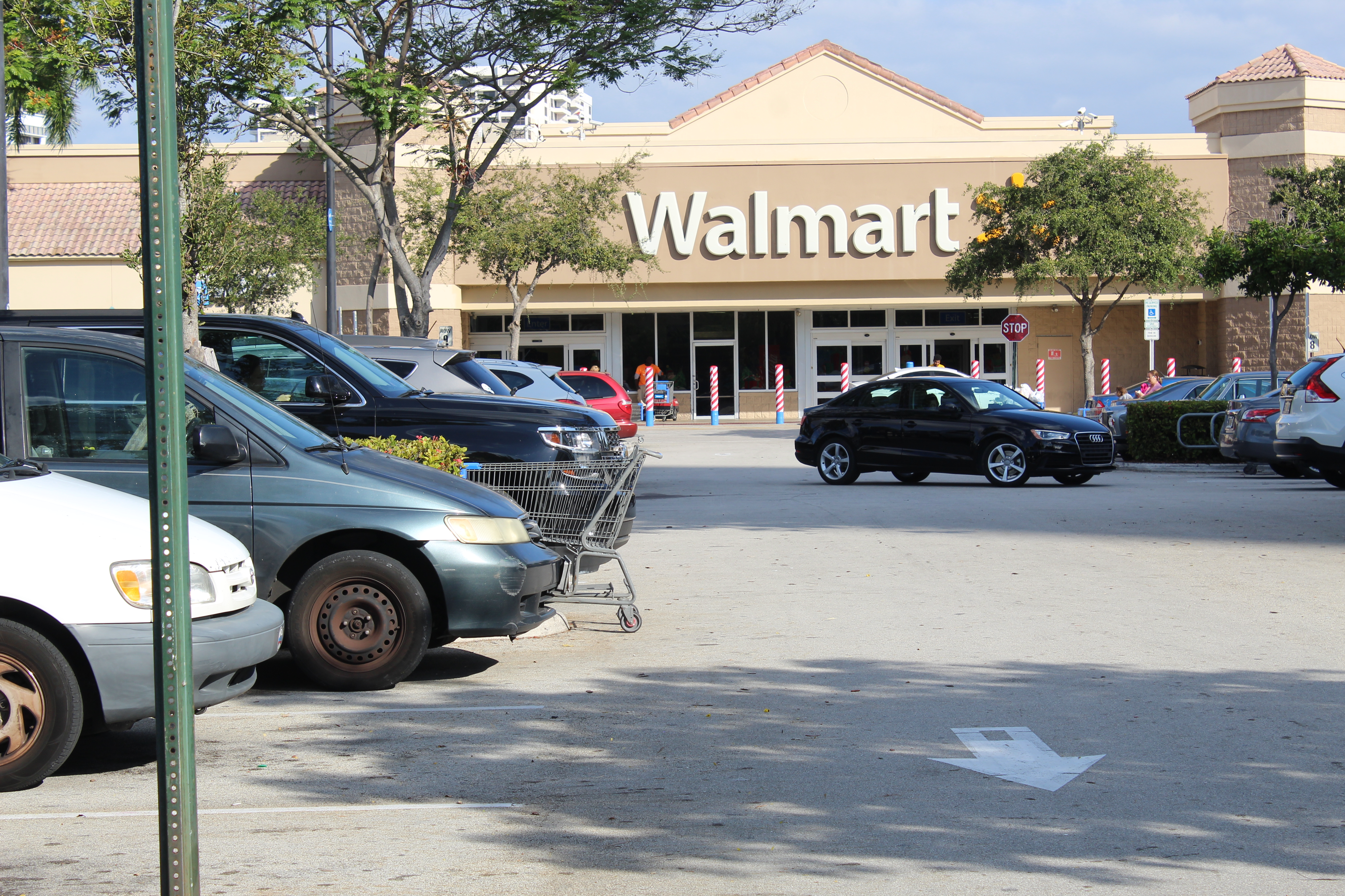 View of Walmart on Hallandale Beach Boulevard